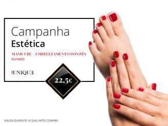 manicure+embelezamento dos pés a verniz